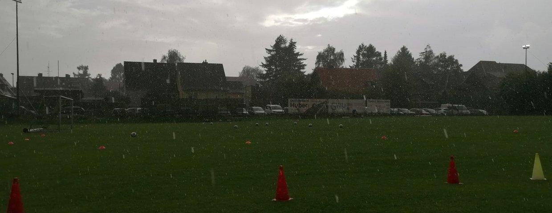 U10 auch vom großen Regen nicht zu stoppen